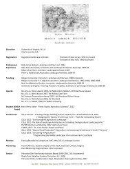 Read my CV - Landscape Architecture