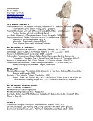 Read my CV - Landscape Architecture - Rutgers, The State ...