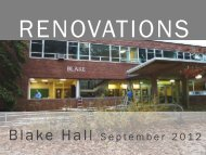 The Blake Hall Renovations