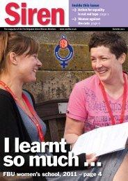 FBU women's school, 2011 – page 4 - Fire Brigades Union