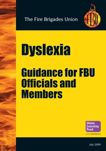 Dyslexia Guidance - Fire Brigades Union