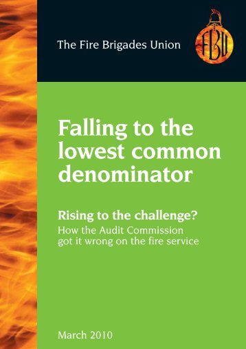 Falling to the lowest common denominator - Fbu.me.uk