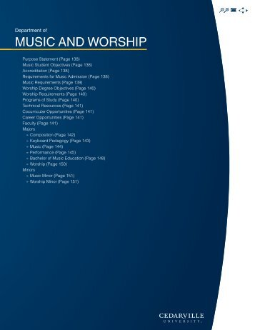 Music Current Catalog - Cedarville University