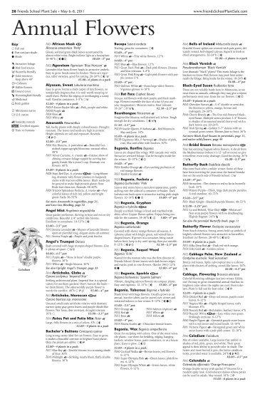 28 Friends School Plant Sale • May 6–8, 2011 www ...