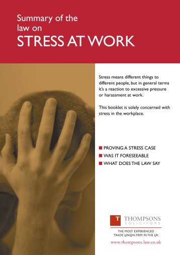STRESS AT WORK - Fbu.me.uk