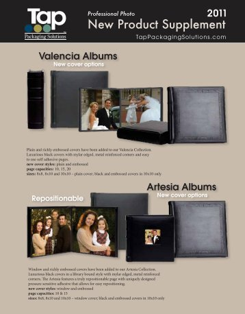 New Product Supplement - Topflight Photo Albums