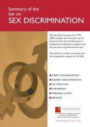 SEX DISCRIMINATION - Fbu.me.uk