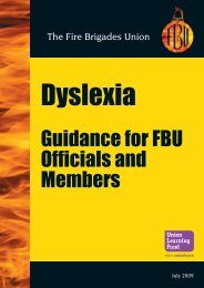 Dyslexia Guidance - Fire Brigades Union