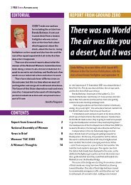 Report From Ground Zero - National Womens Committee of the Fire ...
