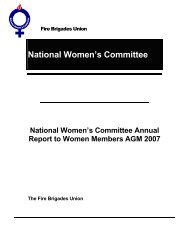NWC Annual Report 2007 - National Womens Committee of the Fire ...