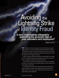 Avoiding the Lightning Strike of Identity Fraud - nfssc