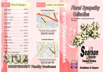 Floral Sympathy Collection - The Searson Family Funeral Service