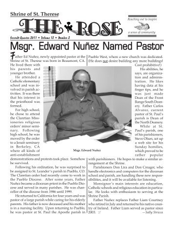Msgr. Edward Nuñez Named Pastor - Shrine of St. Therese