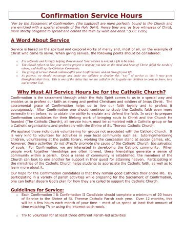 Confirmation Service Hours 2011-2012.pdf - Shrine of St. Therese