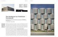 Eine Stadtmauer aus Aluminium- Streckmetall - Bauwelt