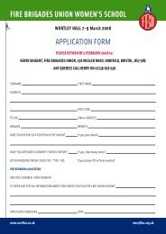 fire brigades union women's school application form - National ...