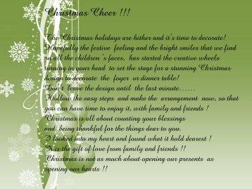 Christmas Cheer !!! - Timbali