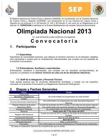 Convocatoria ON 2013