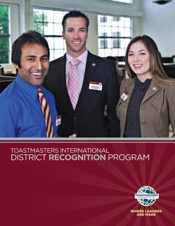 Toastmasters International District Recognition Program - District 78 ...