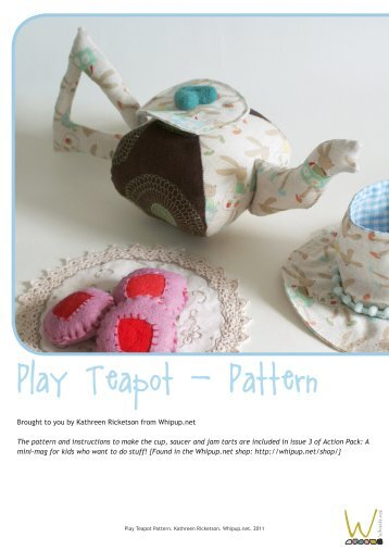 Cloth Teapot Pattern - Whip Up