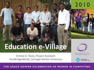 Education e-Village: Creating an Online ... - TechBridgeWorld