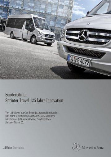 Sonderedition Sprinter Travel 125 Jahre Innovatio n