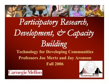 Capacity building - TechBridgeWorld