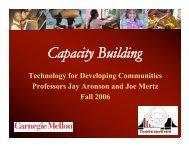 Capacity Building - TechBridgeWorld