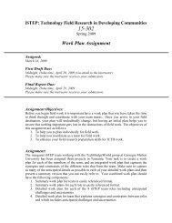 Work Plan Assignment - TechBridgeWorld