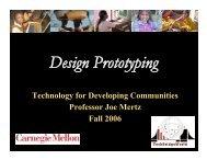 Design Prototyping - TechBridgeWorld