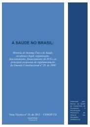 A Saúde no Brasil: História - Câmara dos Deputados