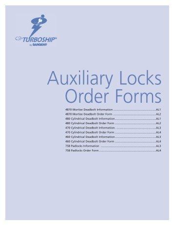 Order Form - Sargent Locks