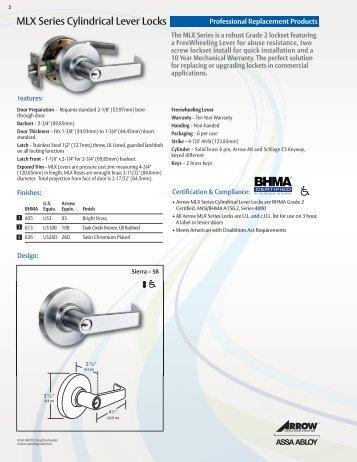 MLX Series Cylindrical Lever Locks u