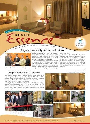 Brigade Essence, June 2008 - Brigade Hospitality