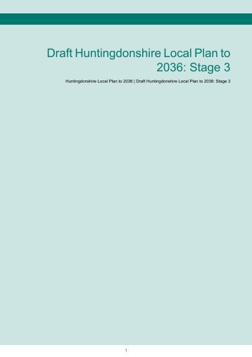 Draft Local Plan Stage 3 07-05-2013