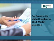Car Rental in the United Kingdom to 2018: Market Databook