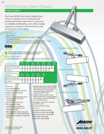Series Light Commercial Door Closers 1700 Task Fzc