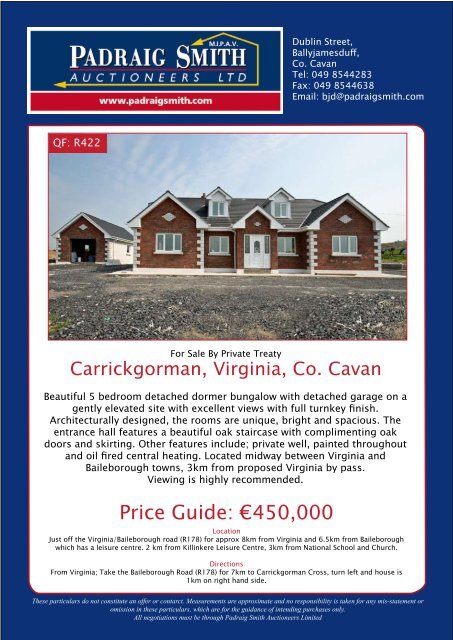 Price Guide: €450,000 - Daft ie