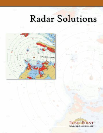 Radar 1 Page Brochure Ver 2.indd - Rose Point Navigation Systems