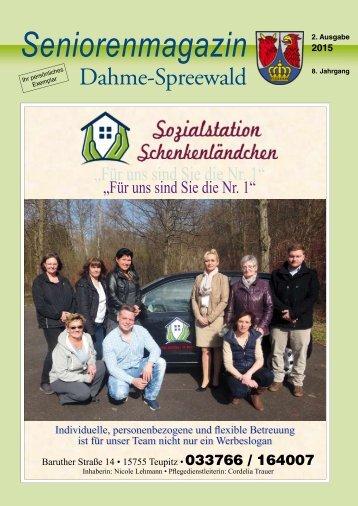 Seniorenmagazin Dahme-Spreewald 2. Ausgabe 2015