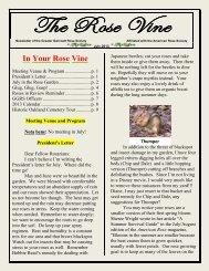 The Rose Vine - Greater Gwinnett Rose Society