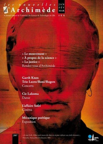 les nouvelles d'Archimède #44 - Espace culture de l'université de ...