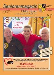 Seniorenmagazin Oder-Spree 1. Ausgabe 2015