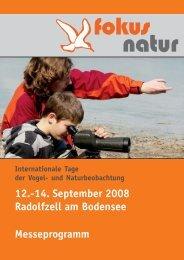 12.-14. September 2008 Radolfzell am Bodensee Messeprogramm