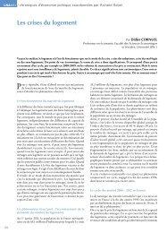Chroniques d'économie politique : Les crises du logement