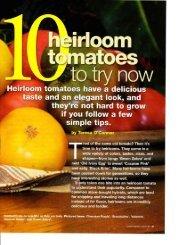 Ten Heirloom Tomatoes to Try Now (PDF) - Seasonal Wisdom