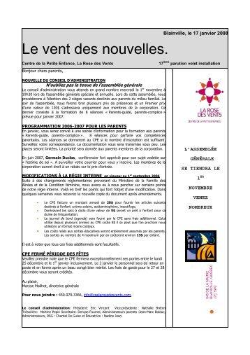 18e édition - CPE La Rose des Vents