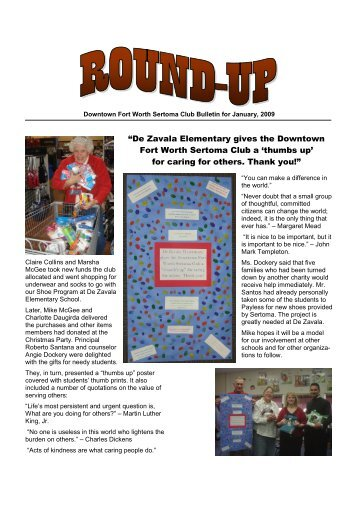 Bulletin for Jan-09 - Sertoma Club of Fort Worth