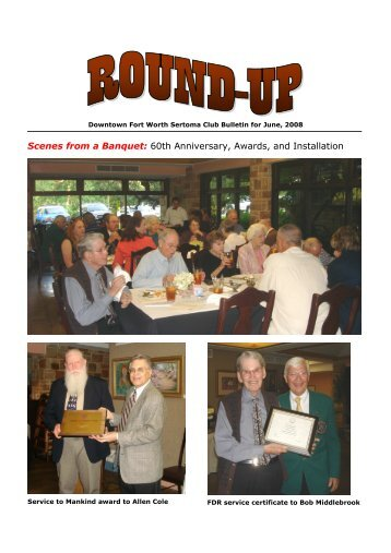 Bulletin for June-08 - Sertoma Club of Fort Worth