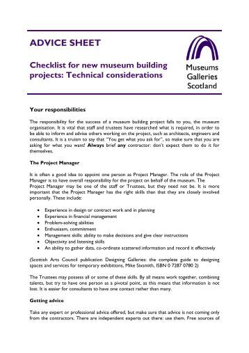 Checklist d new project implementation cal ipc for New build checklist